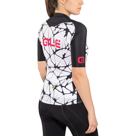Alé Cycling Solid Cracle Shortsleeve Jersey Damen white-black-gerbera